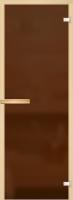 Стеклянная дверь для бани АКМА (Матовая бронза 180х70см, полн. к