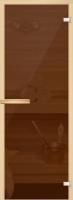 Стеклянная дверь для бани АКМА (Прозр. бронза 180х70см, полн. к