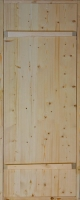 Дверь для бани хвоя с коробкой 660х1660мм на клиньях