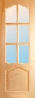 Дверь под стекло из массива хвои 900х2000 (коробка в компл.)