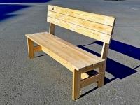 """Скамейка из лиственницы """"Крепыш"""" 1,5м"""